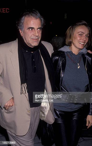 Actor Maximillian Schell and Natasha Schell attend Roddy McDowall Party for Joan Plowright on January 20 1993 at the St James Club in Hollywood...