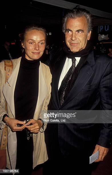Actor Maximillian Schell and Natasha Schell attend the premiere of Misery on November 29 1990 at Mann Village Theater in Westwood California