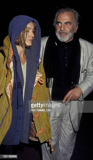 Actor Maximillian Schell and Natasha Schell attend the premiere of Damage on December 15 1992 at the Pacific Design Center in Hollywood California