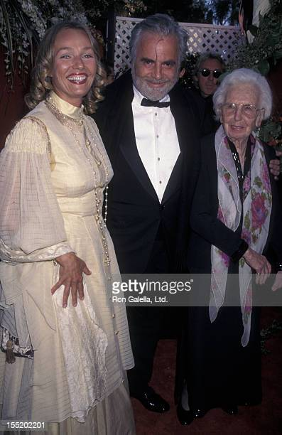 Actor Maximillian Schell and wife Natasha Schell attend 70th Annual Academy Awards on March 23 1998 at the Shrine Auditorium in Los Angeles California