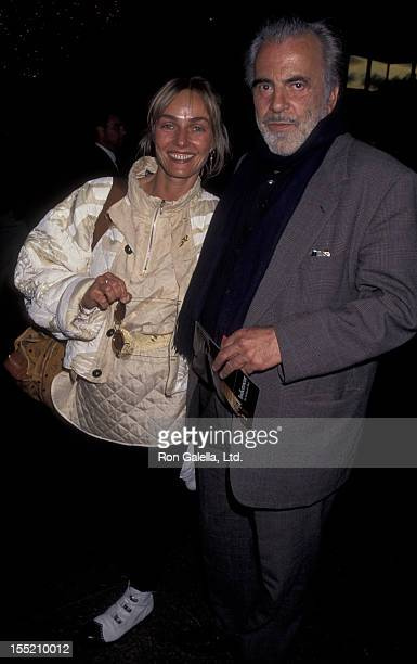 Actor Maximillian Schell and wife Natasha Schell attend the screening of Indictment The McMartin Trial on May 16 1995 at the Director's Guild Theater...