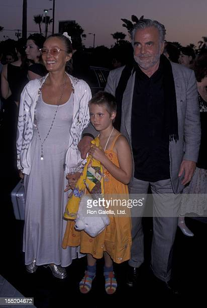 Actor Maximillian Schell and wife Natasha Schell attend the world premiere of Deep Impact on April 29 1998 at Paramount Studios in Hollywood...