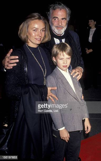 Actor Maximillian Schell Natasha Schell and son Matha Schell attend the premiere of Stalin on November 12 1992 at the Director's Guild Theater in...