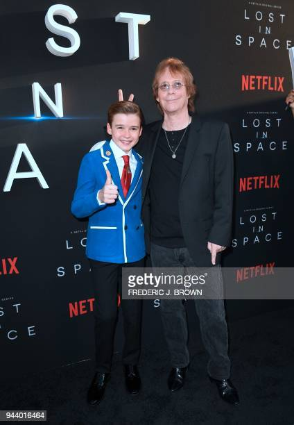 Actor Maxwell Jenkins and Bill Mumy from the original Lost In Space cast arrive for Netflix's Lost In Space Season 1 Premiere event in Los Angeles...