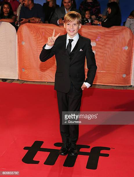 Actor Maxwell Jenkins attends the 2016 Toronto International Film Festival Premiere of 'The Headhunter's Calling' at Roy Thomson Hall on September 14...