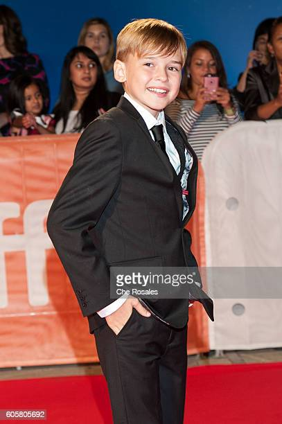Actor Maxwell Jenkins attends the premier of 'The Headhunter's Calling' at Roy Thomson Hall on September 14 2016 in Toronto Canada