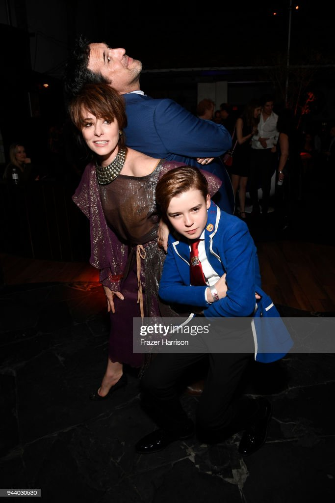 Actor Maxwell Jenkins Posey Parker and showrunner Zack Estrin attend the Premiere Of Netflix's 'Lost In Space' Season 1 After Party at Le Jardin LA on April 9, 2018 in Los Angeles, California.