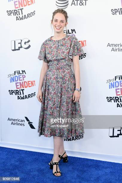 Actor Maya Hawke attends the 2018 Film Independent Spirit Awards on March 3 2018 in Santa Monica California