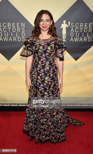 Actor Maya Rudolph attends the 24th Annual Screen Actors Guild Awards at The Shrine Auditorium on January 21 2018 in Los Angeles California