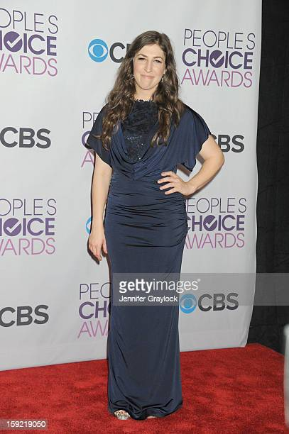Actor Mayim Bialik attends the 2013 People's Choice Awards Press Room held at Nokia Theatre LA Live on January 9 2013 in Los Angeles California