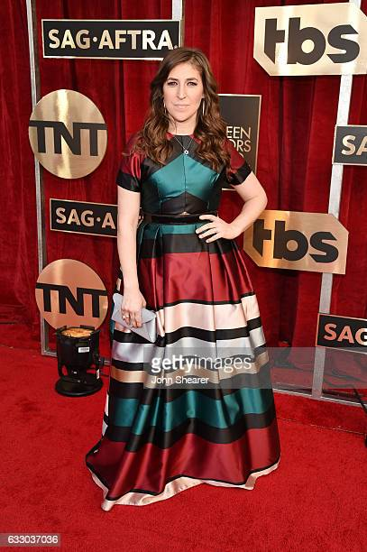 Actor Mayim Bialik attends The 23rd Annual Screen Actors Guild Awards at The Shrine Auditorium on January 29 2017 in Los Angeles California
