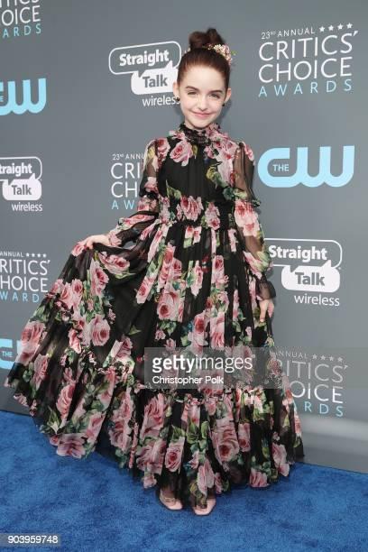 Actor Mckenna Grace attends The 23rd Annual Critics' Choice Awards at Barker Hangar on January 11 2018 in Santa Monica California