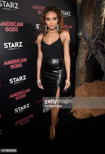 Actor Meagan Tandy attends the American Gods premiere at ArcLight Hollywood on April 20 2017 in Los Angeles California