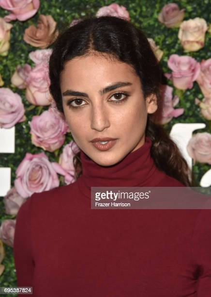 Actor Medalion Rahimi wearing Max Mara at Max Mara Celebrates Zoey Deutch The 2017 Women In Film Max Mara Face of the Future at Chateau Marmont on...