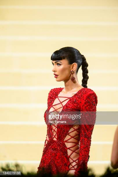 Actor Megan Fox attends the 2021 Met Gala Celebrating In America: A Lexicon Of Fashion at the Metropolitan Museum Of Art on September 13, 2021 in New...