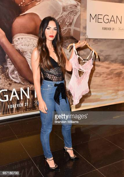 Actor Megan Fox visits Forever 21 to promote her new role as brand ambassador for Frederick's of Hollywood at The Americana at Brand on March 23 2018...