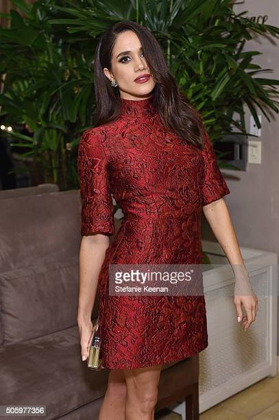 Actor Meghan Markle attends ELLE's 6th Annual Women in Television Dinner Presented by Hearts on Fire Diamonds and Olay at Sunset Tower on January 20,...