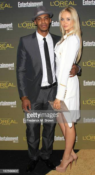 Actor Mehcad Brooks and actress Amalie Wichmann attend the 2012 Entertainment Weekly PreEmmy Party at the Fig Olive on September 21 2012 in West...