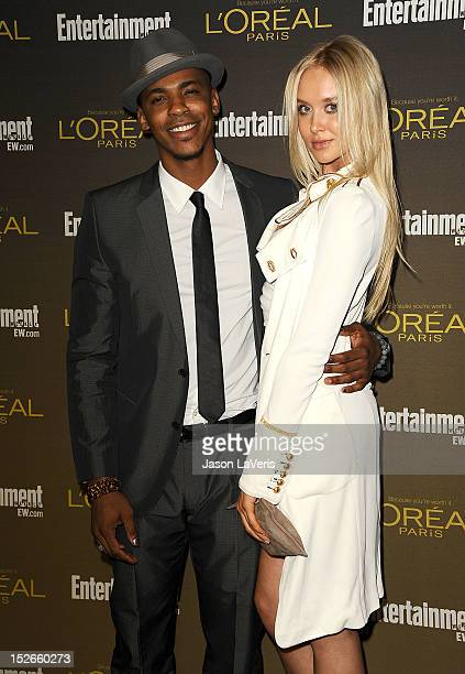 Actor Mehcad Brooks and actress Amalie Wichmann attend the 2012 Entertainment Weekly preEmmy party at Fig Olive Melrose Place on September 21 2012 in...