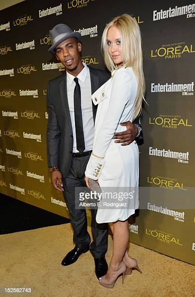 Actor Mehcad Brooks and Amalie Wichmann attend The 2012 Entertainment Weekly PreEmmy Party Presented By L'Oreal Paris at Fig Olive Melrose Place on...