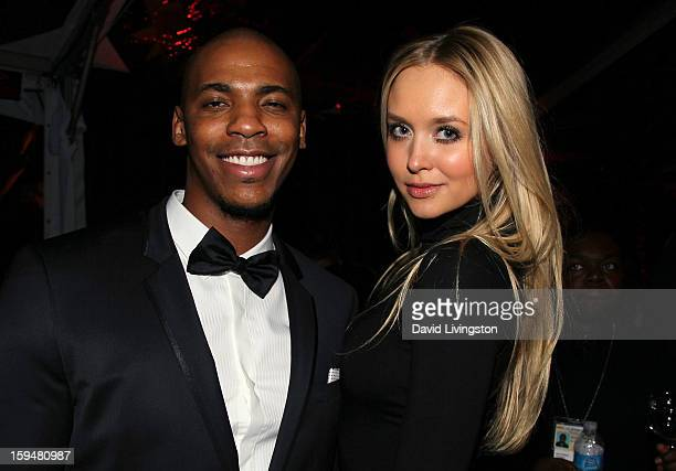 Actor Mehcad Brooks and Amalie Wichmann attend The Weinstein Company's 2013 Golden Globe Awards After Party at The Beverly Hilton hotel on January 13...