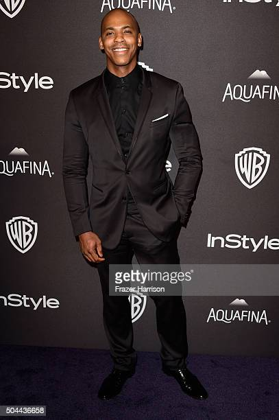 Actor Mehcad Brooks attends InStyle and Warner Bros 73rd Annual Golden Globe Awards PostParty at The Beverly Hilton Hotel on January 10 2016 in...