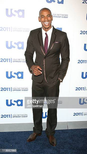 Actor Mehcad Brooks attends the 2011 USA Upfront at The Tent at Lincoln Center on May 2 2011 in New York City