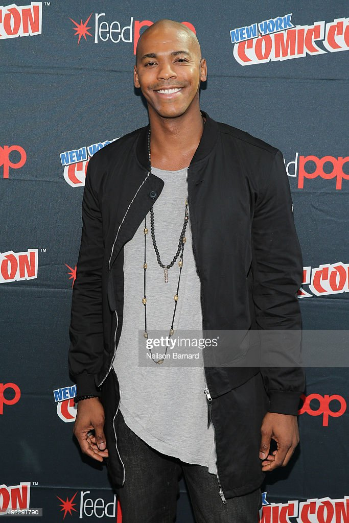 Actor Mehcad Brooks attends the 'Supergirl' press room during New York Comic Con 2015 at The Jacob K. Javits Convention Center on October 11, 2015 in New York City.