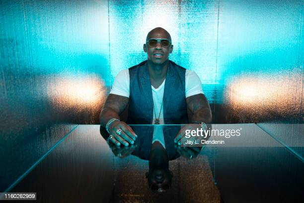 Actor Mehcad Brooks of 'Supergirl' is photographed for Los Angeles Times at ComicCon International on July 20 2019 in San Diego California PUBLISHED...
