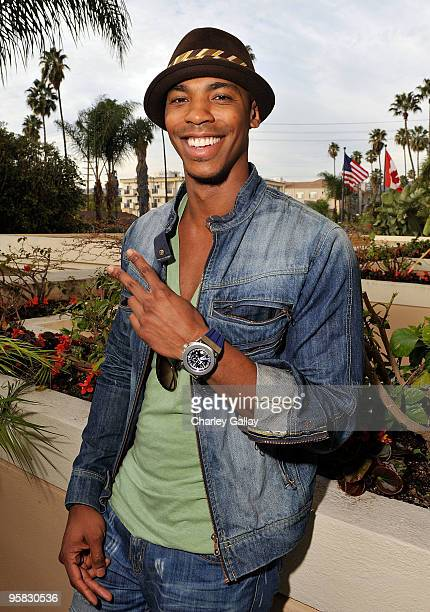 Actor Mehcad Brooks poses at the Invicta Watch Group suite during the HBO Luxury Lounge in honor of the 67th annual Golden Globe Awards held at the...