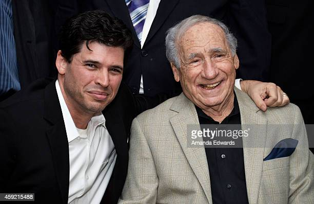 Actor Mel Brooks and his son Max Brooks attend The Academy's 20th Anniversary Screening of The Shawshank Redemption at the AMPAS Samuel Goldwyn...