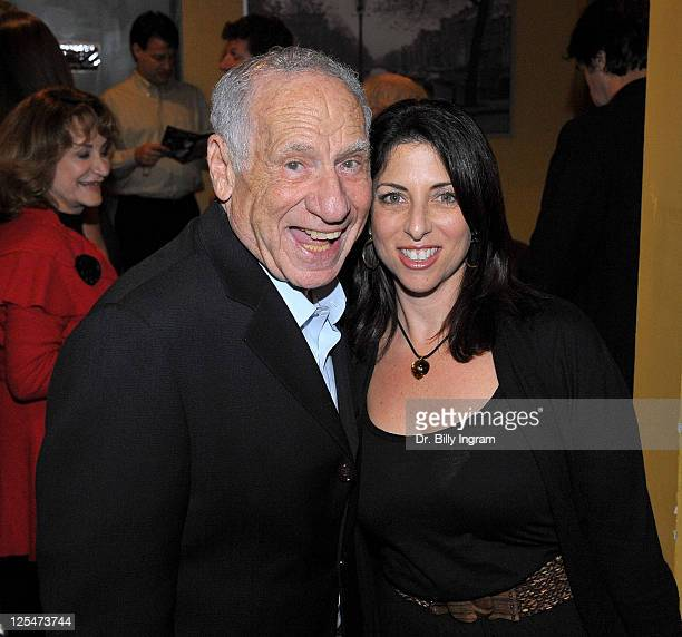Actor Mel Brooks and writer Michelle Kholos Brooks attend the after party for the Open Night Premiere of the Play Love And Other Allergies at the...