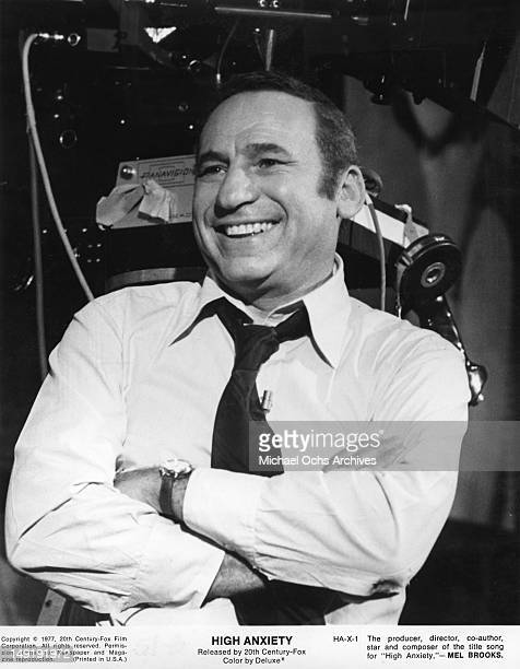 Actor Mel Brooks in a scene from the movie 'High Anxiety' which was released in 1977