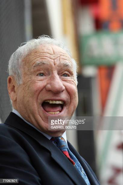 Actor Mel Brooks jokes after his friend producer Alan Ladd jr has been honored with a Star on the Hollywood Walk of Fame on Hollywood Boulevard 28...