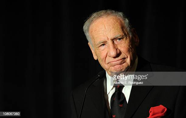 Actor Mel Brooks speaks onstage at the 36th Annual Los Angeles Film Critics Association Awards at the InterContinental Hotel on January 15 2011 in...