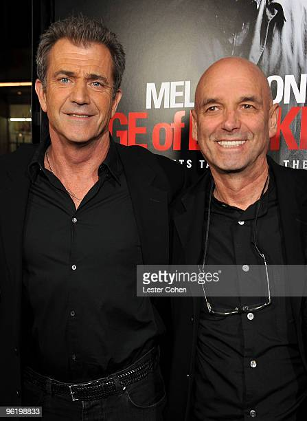 Actor Mel Gibson and director Martin Campbell arrive at the 'Edge Of Darkness' premiere held at Grauman's Chinese Theatre on January 26 2010 in...