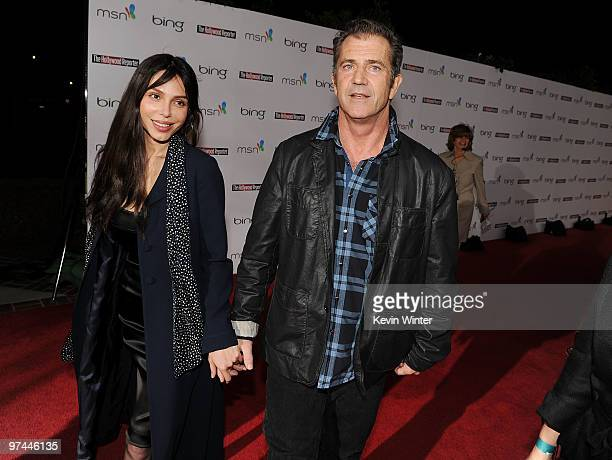 Actor Mel Gibson and Oksana Grigorieva attend The Hollywood Reporter's Nominees' Night Prelude to Oscar presented by Bing and MSN at the Mayor's...