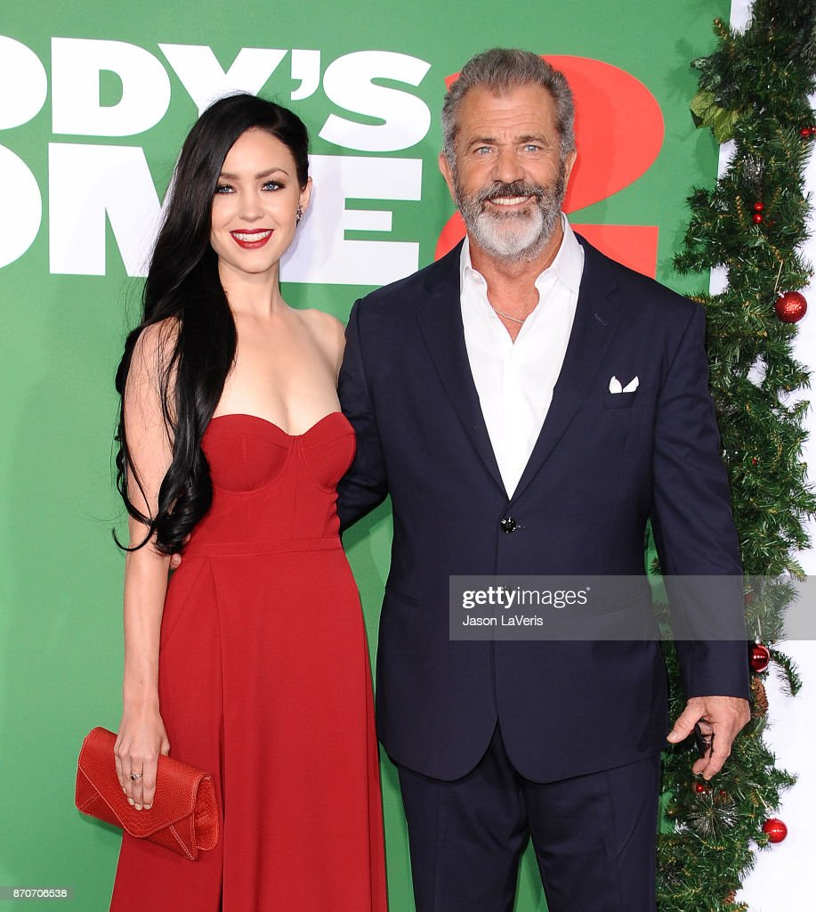 Actor Mel Gibson and Rosalind Ross attend the premiere of 'Daddy's Home 2' at Regency Village Theatre on November 5, 2017 in Westwood, California.
