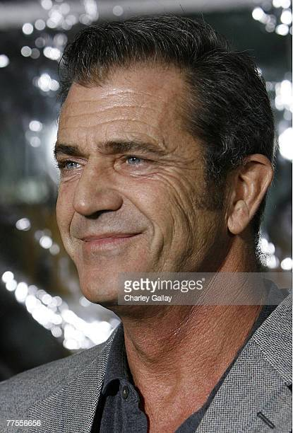 Actor Mel Gibson arrives at the industry screening for Universal's 'American Gangster' at the Arclight October 29 2007 in Hollywood California