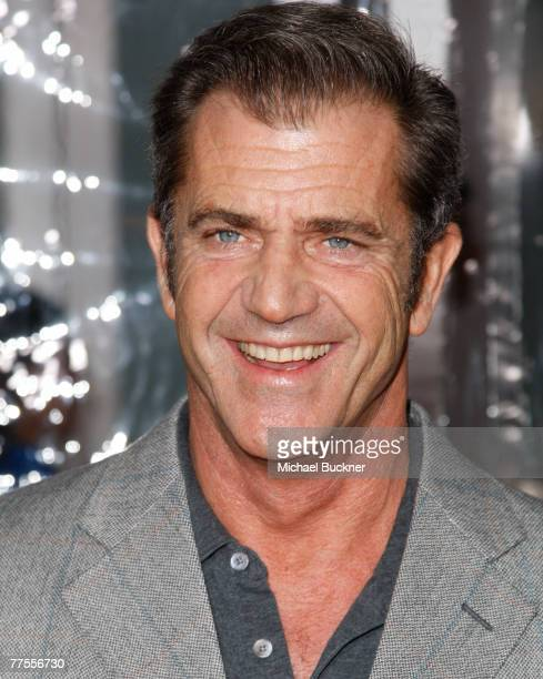 Actor Mel Gibson arrives at the industry screening of Universal's American Gangster at the ArcLight Theatre October 29 2007 in Los Angeles California