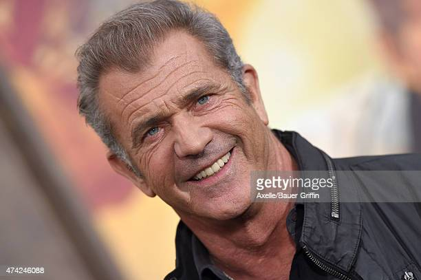 Actor Mel Gibson arrives at the Los Angeles premiere of 'Mad Max Fury Road' at TCL Chinese Theatre IMAX on May 7 2015 in Hollywood California