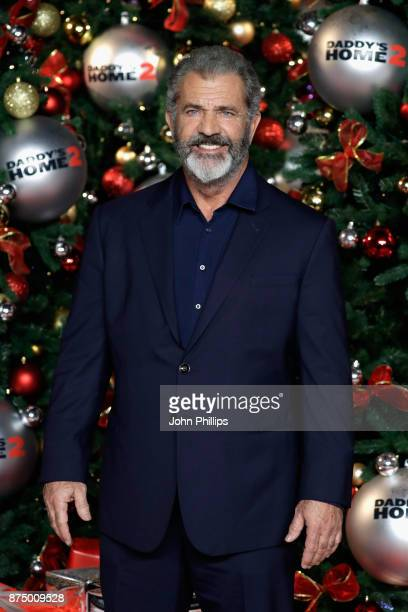 Actor Mel Gibson arrives at the UK Premiere of 'Daddy's Home 2' at Vue West End on November 16 2017 in London England