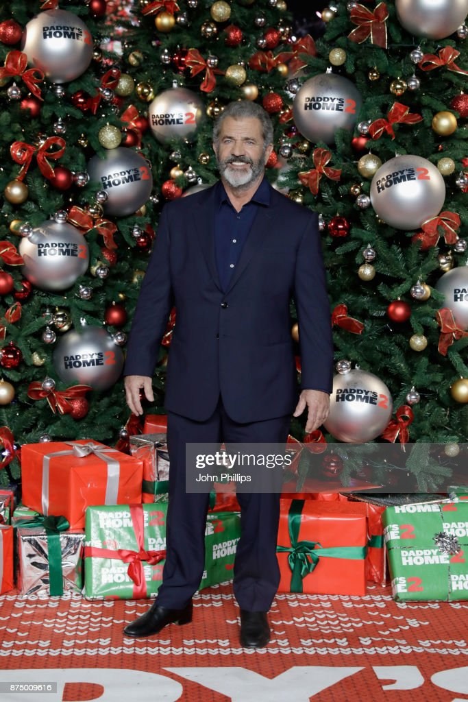 Actor Mel Gibson arrives at the UK Premiere of 'Daddy's Home 2' at Vue West End on November 16, 2017 in London, England.