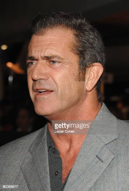 Actor Mel Gibson arrives to the industry screening of American Gangster at the Arclight on October 29 2007 in Hollywood California