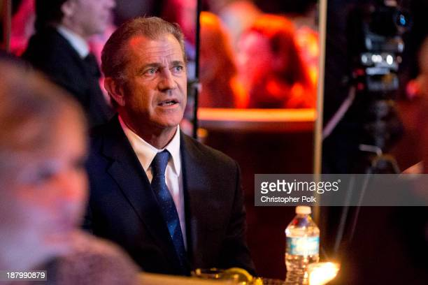 Actor Mel Gibson attend the Stand Up For Gus Benefit at Bootsy Bellows on November 13 2013 in West Hollywood California