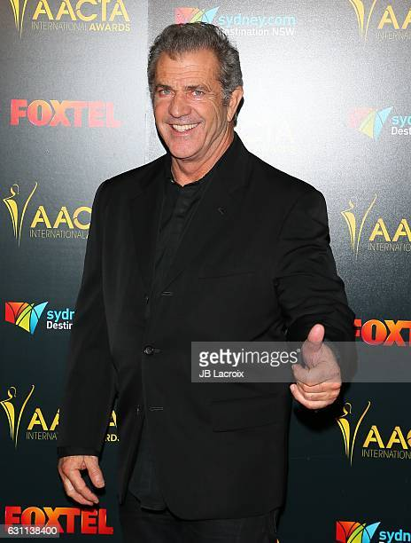 Actor Mel Gibson attends the 6th AACTA International Awards on January 6 2017 in Los Angeles California