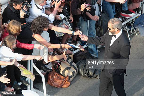 Actor Mel Gibson attends 'The Expendables 3' premiere during the 67th Annual Cannes Film Festival on May 18 2014 in Cannes France