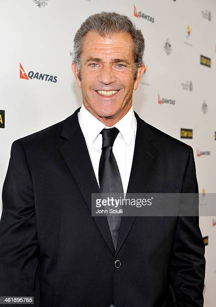 Actor Mel Gibson attends the G'Day USA Los Angeles Black Tie Gala at JW Marriott Hotel at LA LIVE on January 11 2014 in Los Angeles California