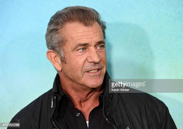 "Actor Mel Gibson attends the premiere of Warner Bros. Pictures' ""Mad Max: Fury Road"" at TCL Chinese Theatre on May 7, 2015 in Hollywood, California."