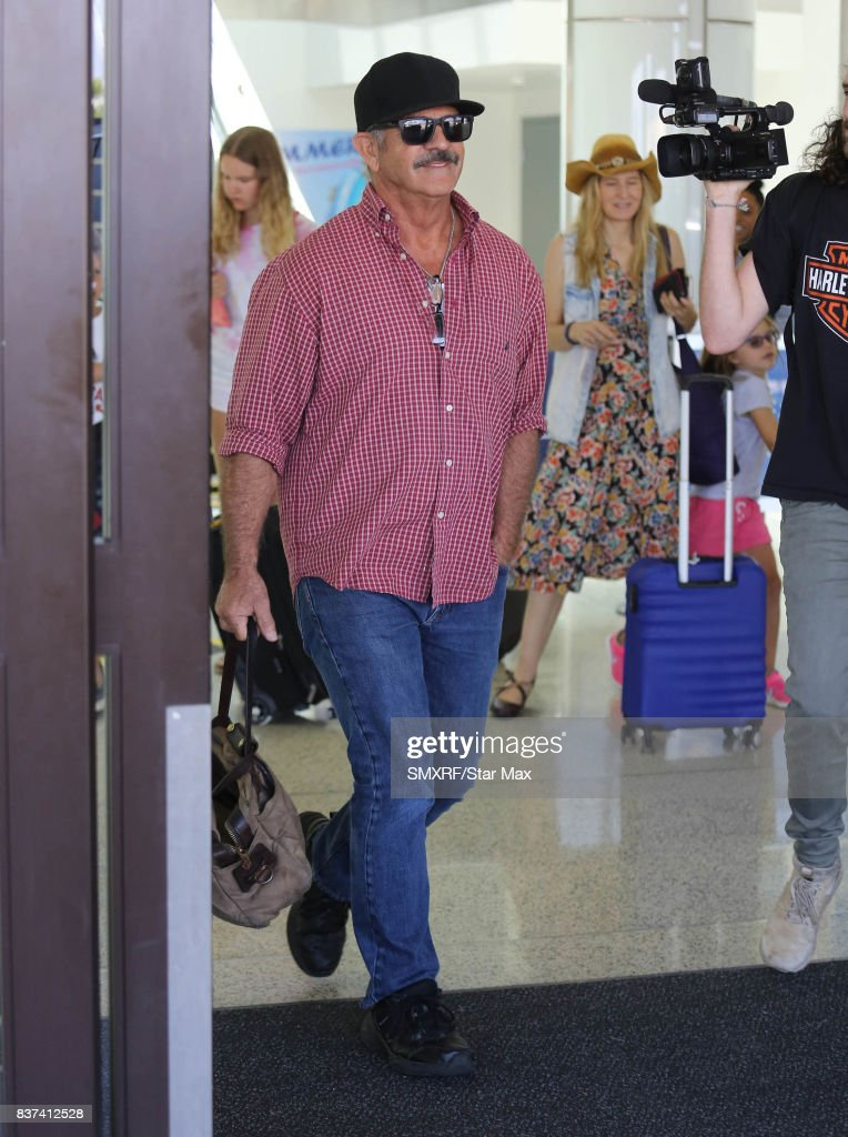 Actor Mel Gibson is seen on August 22, 2017 in Los Angeles, California.